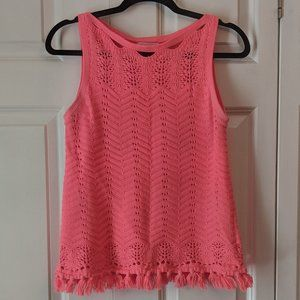 Lilly Pulitzer Brooklin Fringe Trimmed Sweater